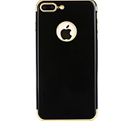 For  iPhone 7 7Plus 6S 6Plus Case Cover New Classic Bright Black Plating TPU Material Phone Case