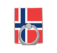 Flag of Norway Pattern Plastic  Ring Holder / 360 Rotating for Mobile Phone