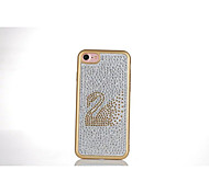 For Apple iPhone 7 Plus / iPhone 7 / iPhone 6s Plus/iPhone 6 Plus /iPhone 6s/iPhone 6 Swan Diamond Mobile Phone TPU Protection Case