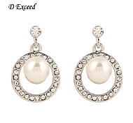 2016 Brand New Novel Fashion Circular Imitation Pearl Drop Earring For Ladies ER119801