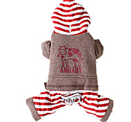 Dog Clothes/Jumpsuit Red / Coffee Dog Clothes Winter / Spring/Fall Animal Cute / Casual/Daily / Keep Warm