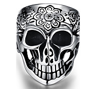Ring Jewelry Steel Skull / Skeleton Jewelry Unique Design Fashion Punk Black Jewelry Casual 1pc