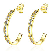 Hot 18K gold plated CZ Diamond drop Earrings Fashion Jewelry Beautiful Party Style Wedding Gift for Woman Top Quality E127