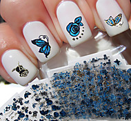 24pcs Nail Art Sticker Adesivi 3D unghie makeup Cosmetic Nail Art Design