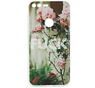 For Google Pixel XL Case Cover Flower Pattern Back Cover Soft TPU for Google Pixel