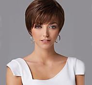 дешевые синтетические парики короткие прямые волосы каштановые парик крышка с челкой для женщин горячей продажи Шиньон