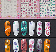1pcs Nail Christmas Snowflake Nail Sticker