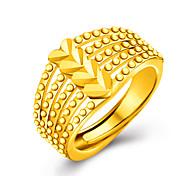 Ringe Ohne Stein Hochzeit / Party / Alltag / Normal Schmuck Gold Damen Ring 1 Stück,Eine Größe Goldfarben / Silber