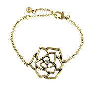 Vintage Style Rhinestone Metal Flower Chain Bracelets