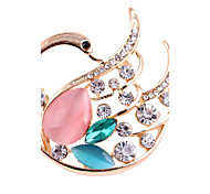 Women's Fashion Alloy/Rhinestone/Opal Swan Brooches Pin Party/Daily/Casual Jewelry Accessory 1pc