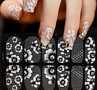 1 Nail Art Sticker  Lace Water Transfer Decals Makeup Cosmetic Nail Art Design