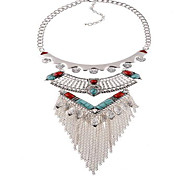 MPL Europe exaggerated diamond necklace tassel