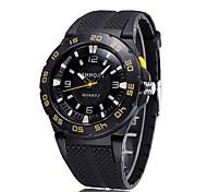 CAGARNY Unisex Fashion Watch Wrist watch / Quartz Silicone Band Cool Casual Black