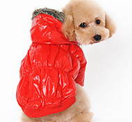 Dog Coat Hoodie Red Blue Black Coffee Dog Clothes Winter Spring/Fall Solid Casual/Daily Keep Warm