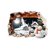 Праздник / 3D Наклейки 3D наклейки Декоративные наклейки на стены,pvc материал Украшение дома Наклейка на стену