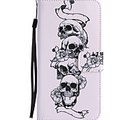 For Google Pixel XL Pixel PU Leather Material Skull and Crossbones Pattern Painting Phone Case