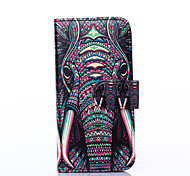 For Apple iphone6s iphone6 The Elephant with PU Leather Case Holster