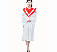 Ethnic/Religious Festival/Holiday Halloween Costumes White & Red / Red & White / White & Blue / Purple & White Solid Dress ChristmasSilk