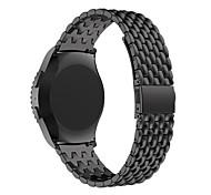 de acero inoxidable de la sustitución del metal pulsera de la correa de reloj inteligente para Samsung s2 engranaje R730 R732 clásica