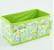 Cosmetic Bag Solid Nylon Green