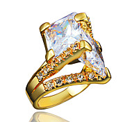 Party Dress Gold Plating Ring with Zircon