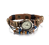 Unisex  European and American Fashion Retro Leather Bracelet Watches Waterproof Quartz Bracelet Watches