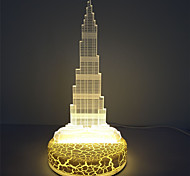 Holiday Decoration Dubai Tower 3D Led Illusion Table Acrylic Light