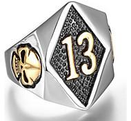 Муж. Кольцо бижутерия Панк Титановая сталь В форме черепа Бижутерия Назначение Повседневные