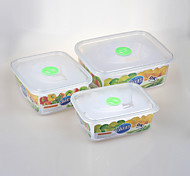 Stackable Rectangular Food Container Set with Lids