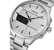 TOMORO Original Fashion Simple Luxury Digital LED Military Hours Watches Men Steel Business Quartz Watch Clock 2016 Montre Homme