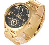 Hombre Reloj Deportivo / Reloj Militar / Reloj de Vestir / Reloj de Moda / Reloj de Pulsera Cuarzo Dos Husos Horarios / PunkAcero