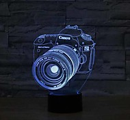 Camera Touch Dimming 3D LED Night Light 7Colorful Decoration Atmosphere Lamp Novelty Lighting Christmas Light