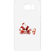 For Samsung S7 Edge S6 Pattern Case Back Cover Case Santa Claus And Children Soft TPU for S7 S6 Edge Plus S6 Edge S5 Mini S5 S4 Mini S4