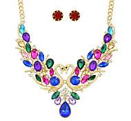 Gioielli 1 collana / 1 paio di orecchini Matrimonio 1 Set Da donna Rosso / Blu / Multicolore Regali di nozze