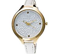 Mujer Reloj de Vestir / Reloj de Moda / Reloj de Pulsera / Reloj Pulsera Cuarzo Punk / Colorido / Esfera Grande PU BandaCosecha /