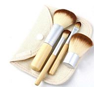 4 Makeup Brushes Set Synthetic Hair Travel / Portable Wood Face / Eye Others