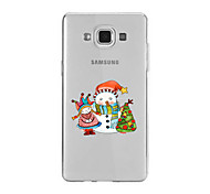 For Samsung A9(2016)A9 Pattern Case Back Cover Case Christmas Snowman And Doll Soft TPU for Samsung A9(2016) A7(2016) A5(2016) A3(2016) A9 A8 A7 A5 A3