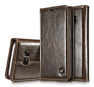 Для Samsung Galaxy S7 Edge Кошелек Бумажник для карт со стендом Флип Кейс для Чехол Кейс для Один цвет Натуральная кожа для SamsungS8 S8