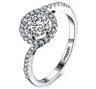 Forever Love Classic Wedding Band Rings Round Sparkling AAA CZ Diamond Rings Jewelry