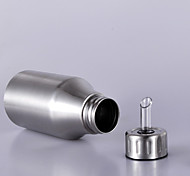 1 PC Stainless Steel Household Oil Can Filling Vinegar Pot Leakproof Capped Kitchen Oil tTank