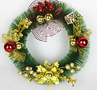 Christmas Wreath Pine Needles Christmas Decoration For Home Party Diameter 30cm Navidad New Year Supplies