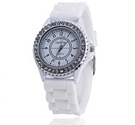 Silicone GENEVA Watch Women Rhinestone Watches Fashion Casual Quartz Watch Sport watch Relogio Feminino