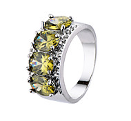 Fashion Colorful Zircon Platinum Plating Women Jewelry Rings Female Smart Rings Engagement Wedding Rings