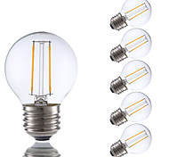 2W E26 LED Filament Bulbs G16.5 2 COB 200 lm Warm White Dimmable 120V 6 pcs