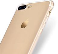 Per Transparente Custodia Custodia posteriore Custodia Tinta unita Morbido TPU per Apple iPhone 7 Plus / iPhone 7