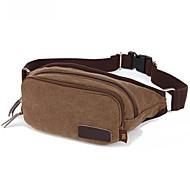 10 L Belt Pouch/Belt Bag Breathable Coffee Canvas