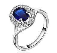 Jewelry Women Ellipse Silver Ring Sterling Silver Rings Statement Rings