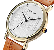 LONGBO Men's / Women's Quartz Water Resistant/Water Proof Leather Band Casual Brown Brand Sport Watch / Dress Watch