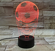 Football Skeleton Face 3D Visual Art Lights Colorful Small Night Light Creative Lamp
