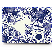 Blue Line Flower MacBook Computer Case For MacBook Air11/13 Pro13/15 Pro with Retina13/15 MacBook12